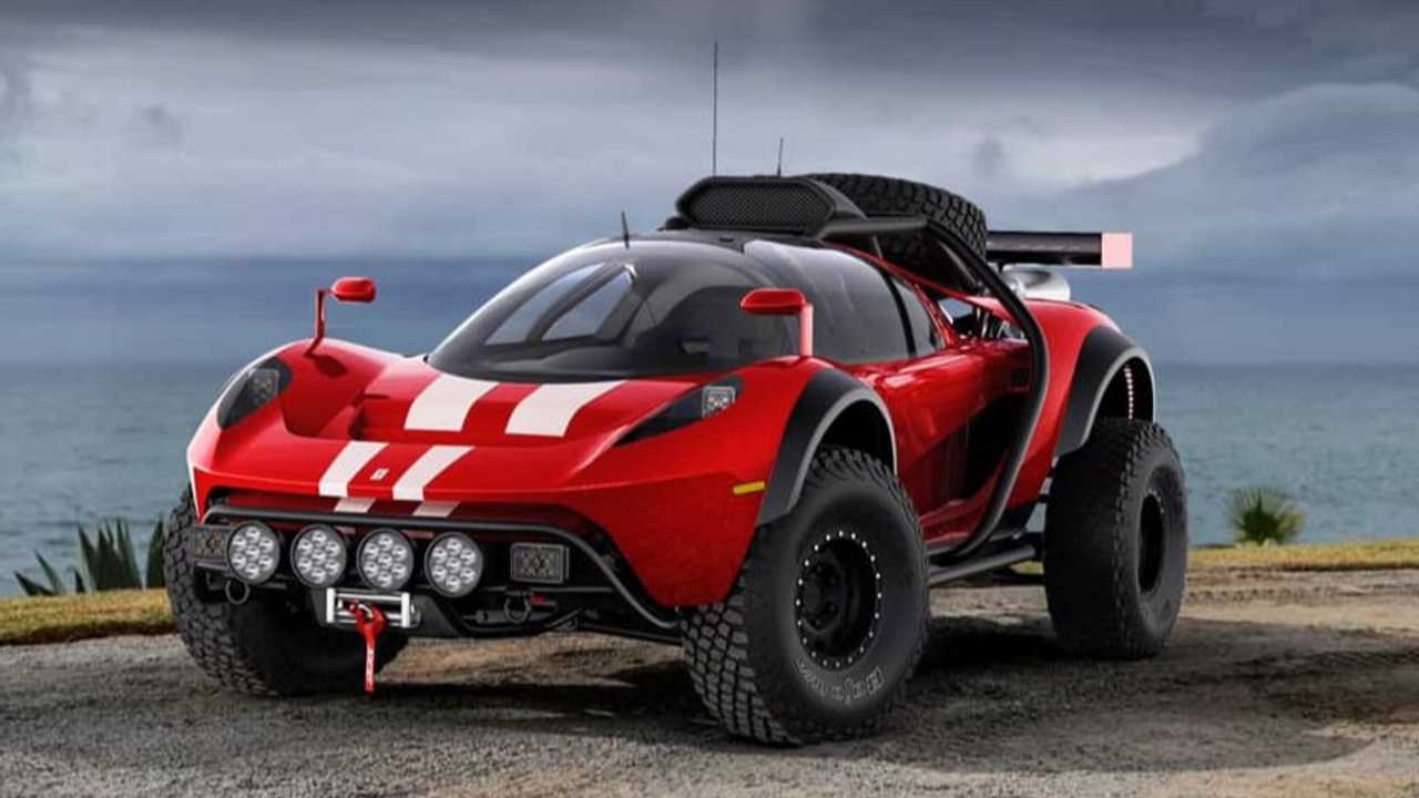Scuderia Cameron Glickenhaus all-terrain race car rendering