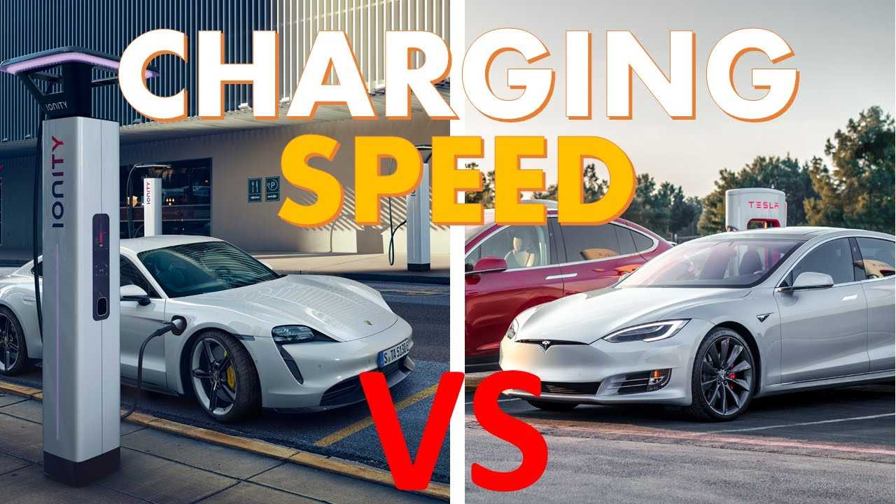 tesla vs taycan charging speed