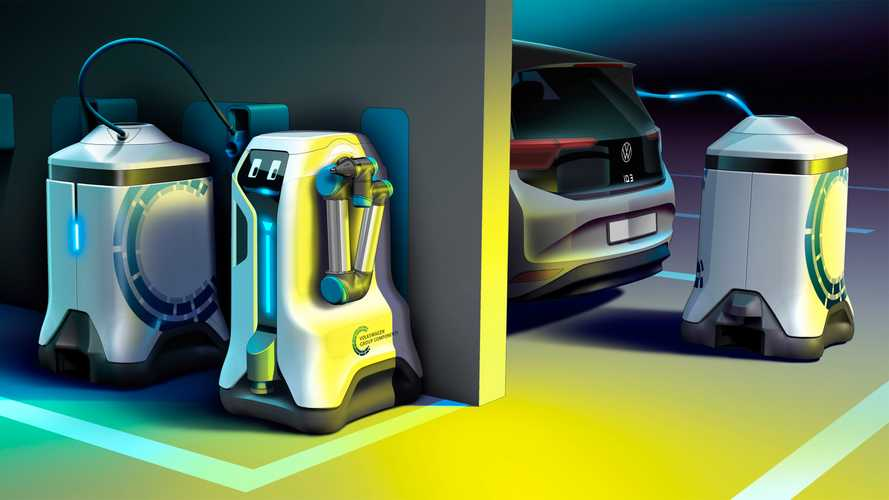 VW develops mobile robot that can charge your EV
