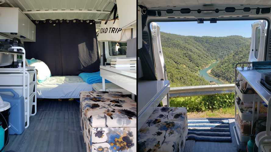 Ram Promaster Gets $1,000 Ikea Conversion To Become A Cozy Camper