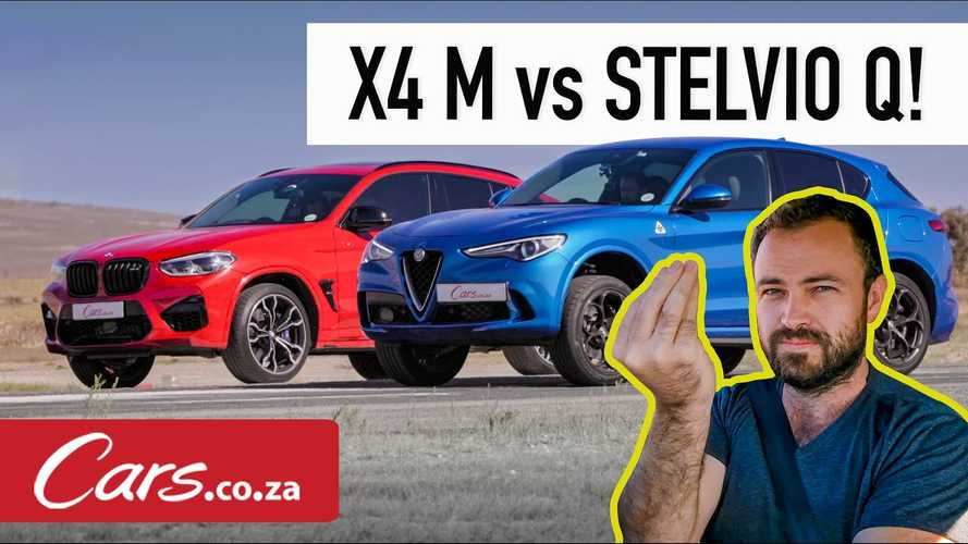 BMW X4 M Vs Alfa Romeo Stelvio Drag Race Is Unexpectedly Exciting