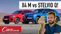 x4 m stelvio drag race video