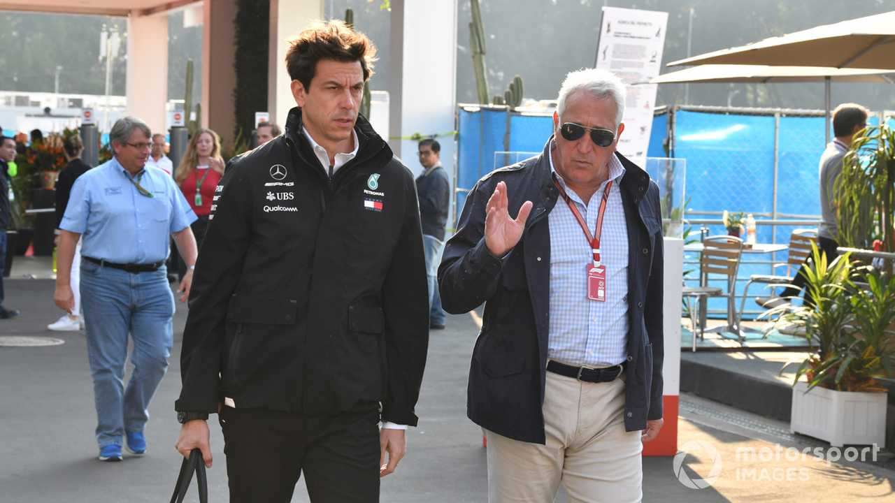 Toto Wolff and Lawrence Stroll at Mexican GP 2018