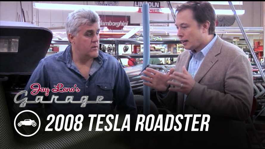 Jay Leno Reveals Video Of Driving 2008 Tesla Roadster With Elon Musk