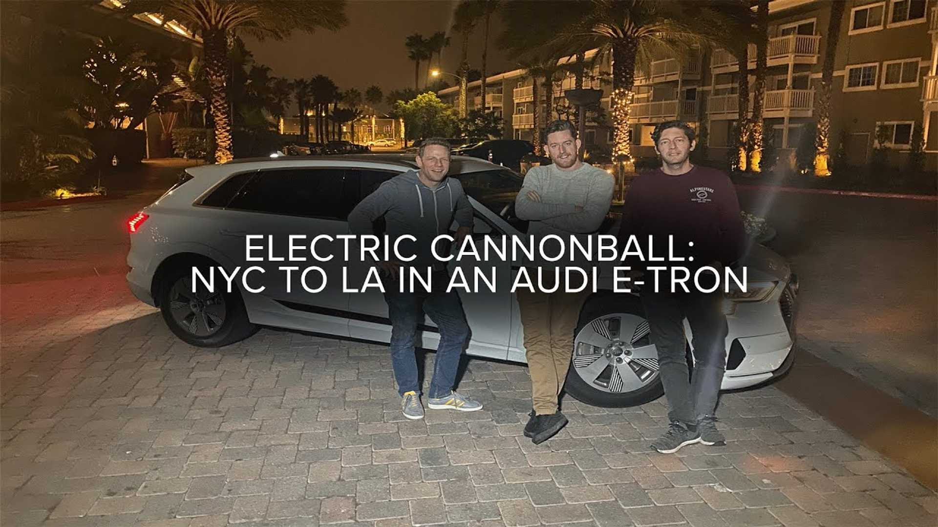 Audi e-Tron Cannonball Run Attempt: Range & Fast-Charging Tested