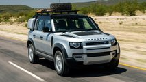 land rover defender v8 spied