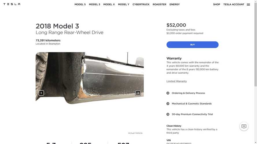 Tesla Is Officially Selling A Used Model 3 With Serious Paint Issues