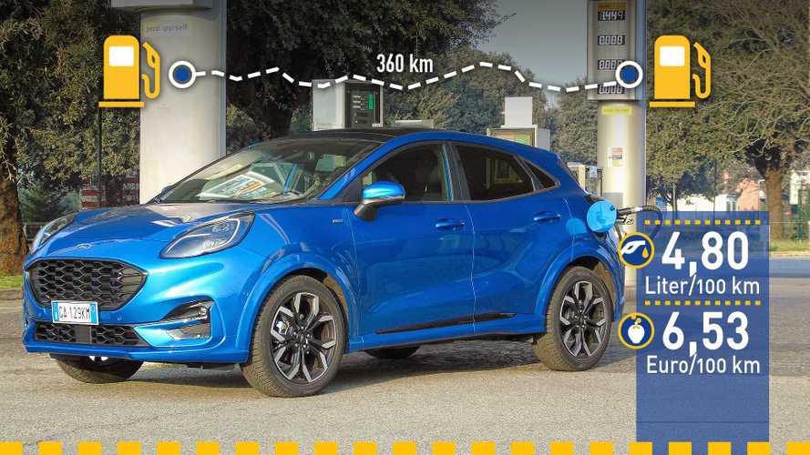 Tatsächlicher Verbrauch: Ford Puma 1.0 Ecoboost Hybrid im Test