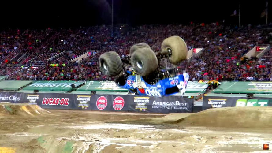 Monster Truck ile atılan ön takla yanlışlıkla olmuş!
