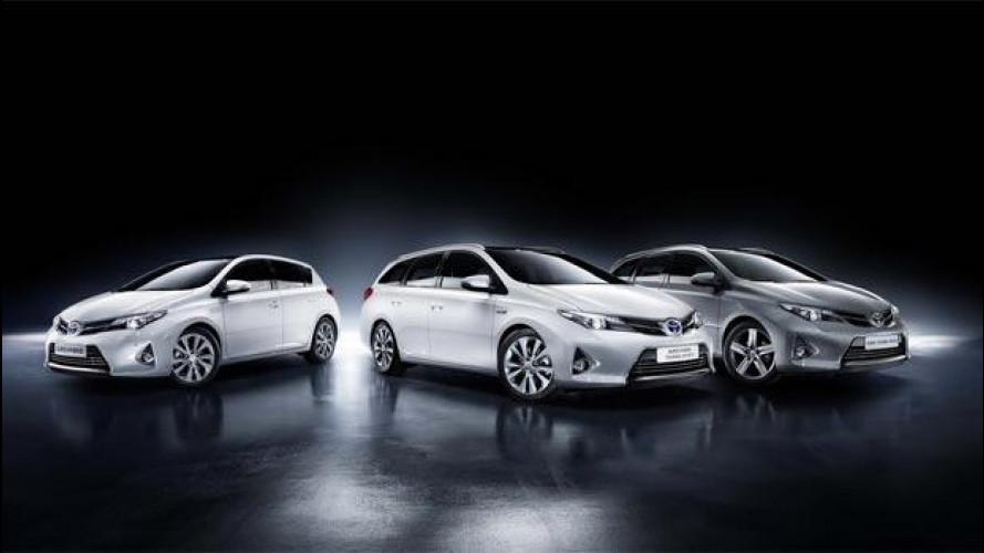 Toyota Auris ibrida, consuma ancora meno ed emette 84 g/km di CO2