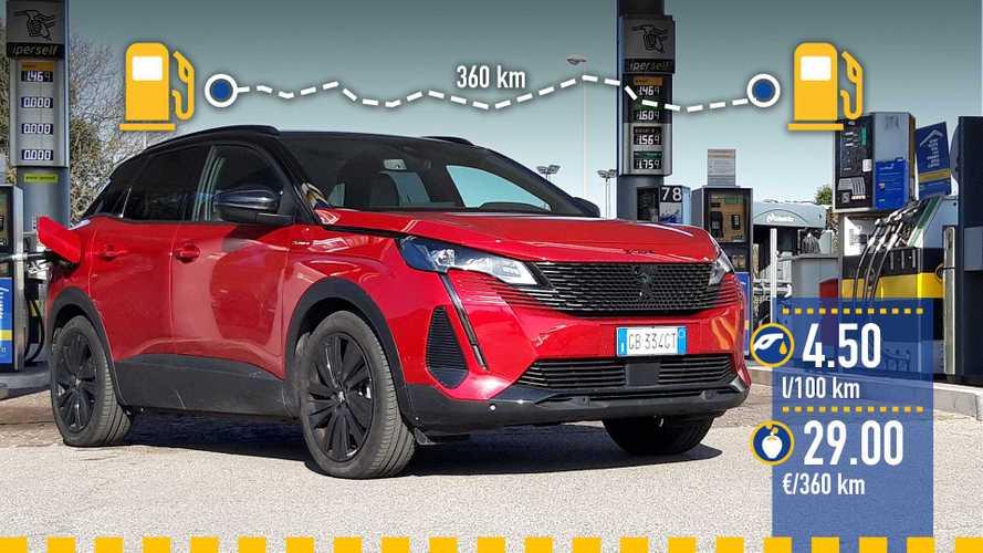 Peugeot 3008 ibrida plug-in (2021), la prova dei consumi reali