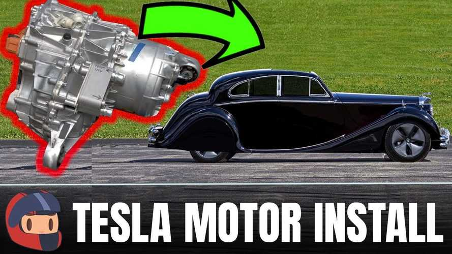 Watch Automotive Engineer Put Tesla Model 3 Motor And Subframe In 50s Jag
