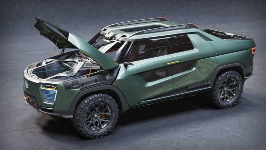Honda Ridgeline, elektrikli ve fütüristik olarak hayal edilmiş