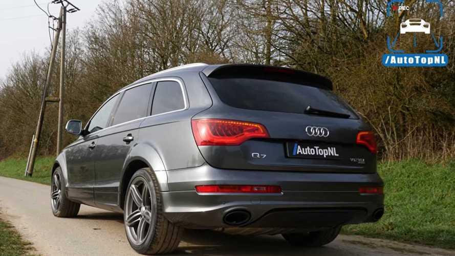 Un Audi Q7 V12 diesel poussé à fond sur autoroute allemande !
