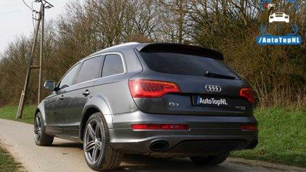 Audi Q7 V12 diesel accelerates like a fast tank in top speed run