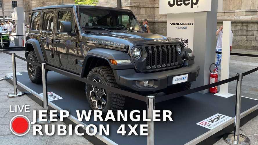 Jeep Wrangler 4xe, il 4x4 ibrido plug-in al Milano Monza 2021