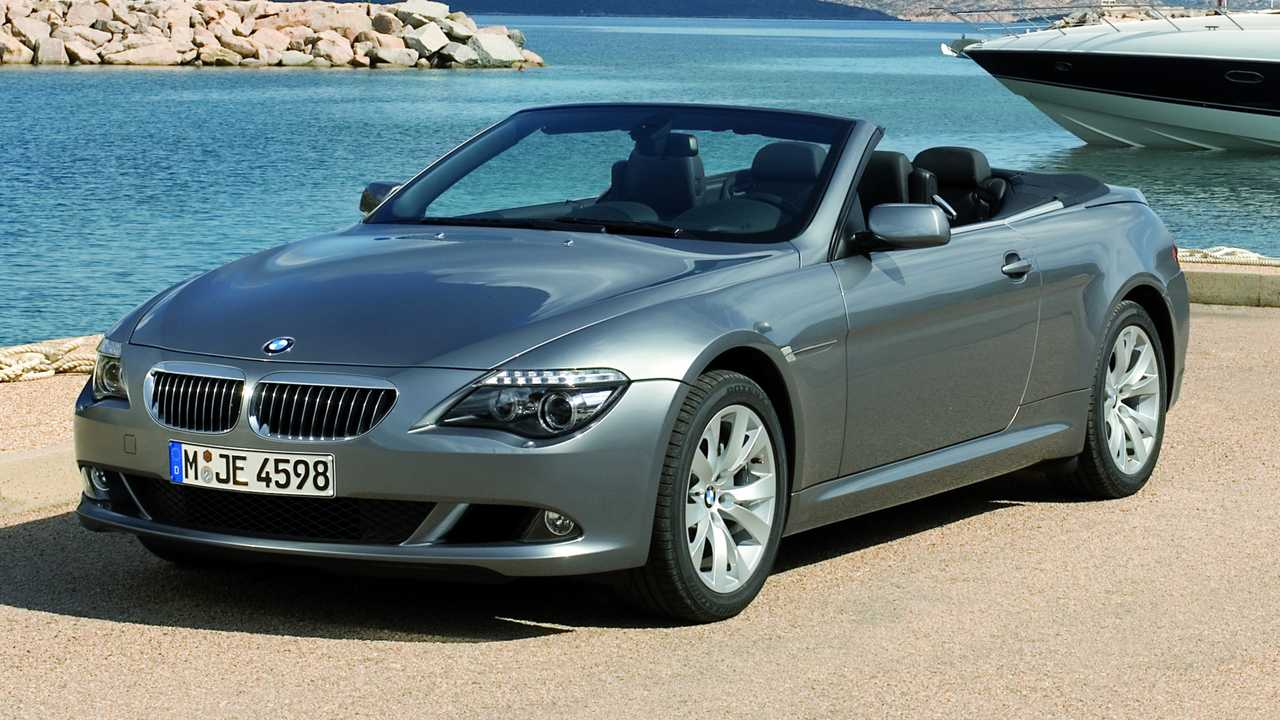 An official BMW photo showing a 2007 650i convertible.