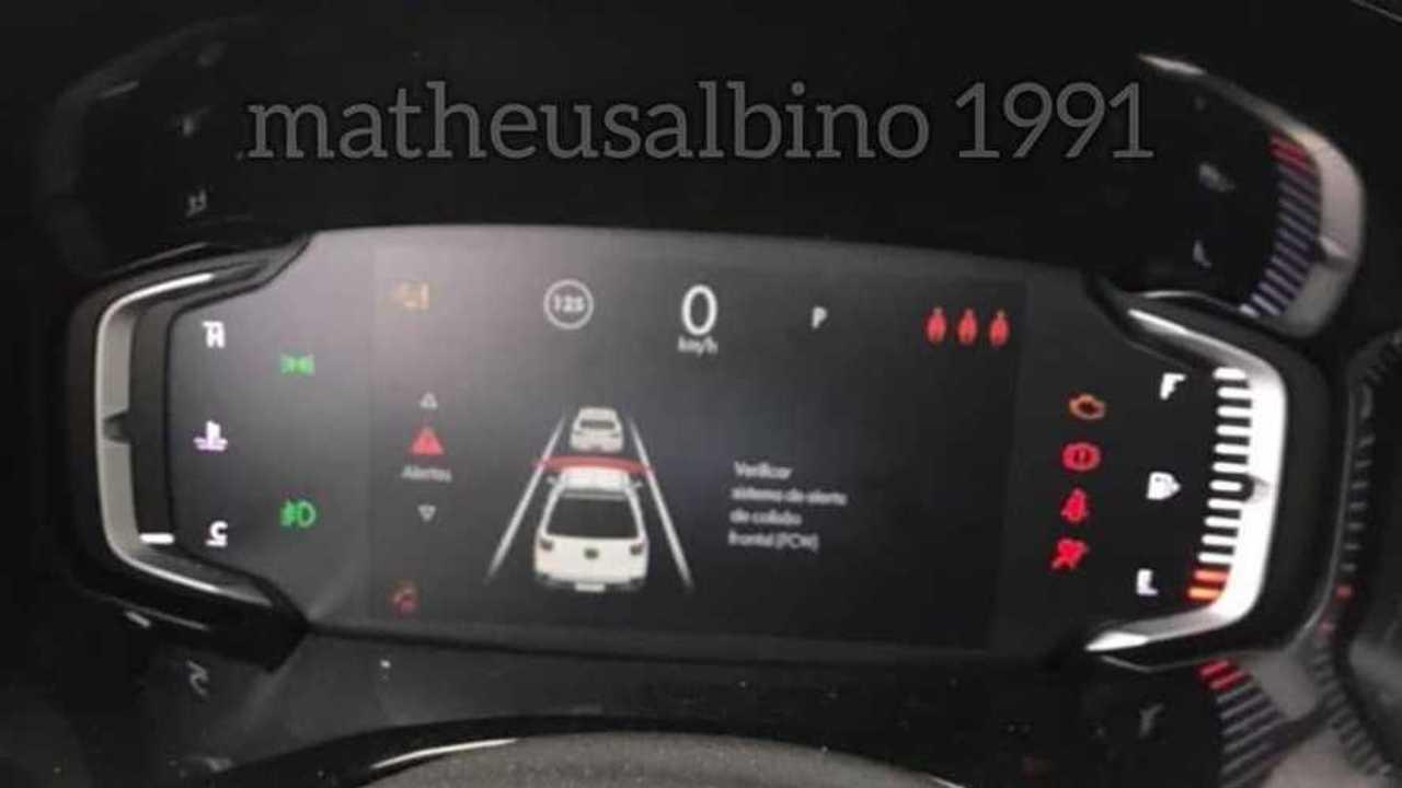 Fiat Toro 2022 - Flagra do painel digital
