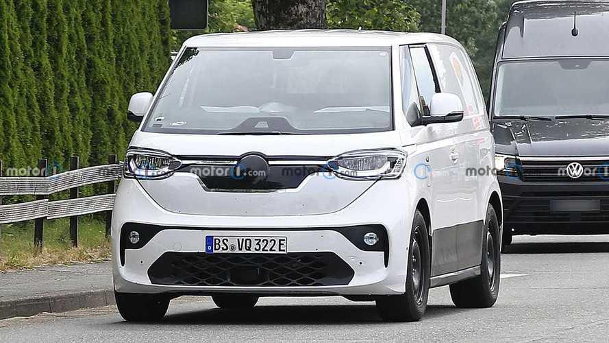 Volkswagen ID Buzz prototype with production body spy photos