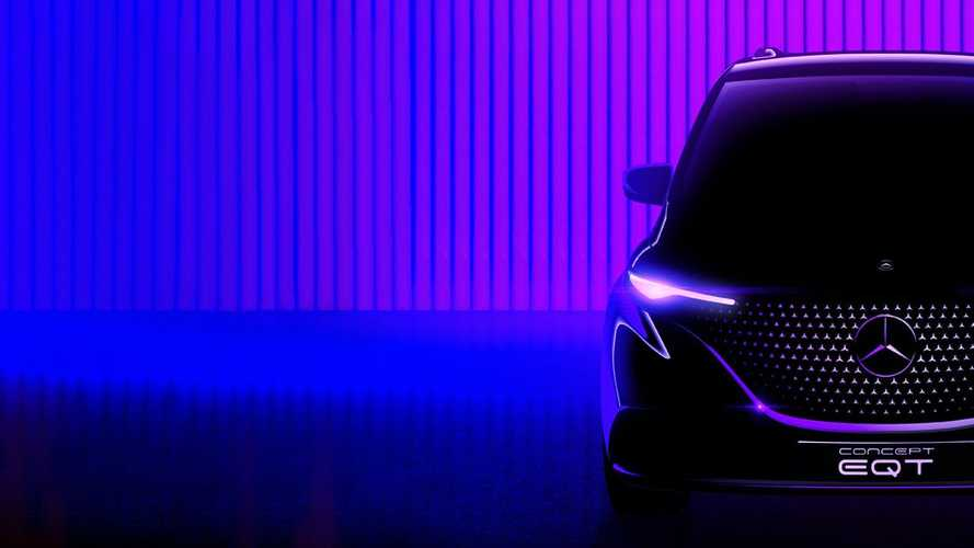 Mercedes-Benz показал «лицо» электрического компактвэна EQT