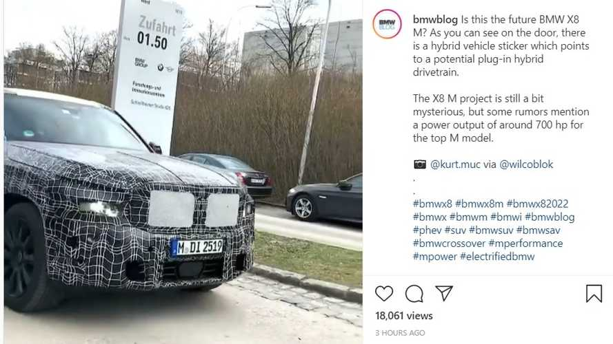 BMW X8 Caught On Camera Looking Large And In Charge