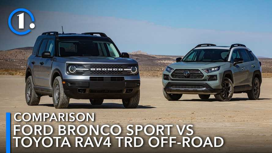 Ford Bronco Sport Badlands Vs. Toyota RAV4 TRD Off-Road Comparison: Brute Utes