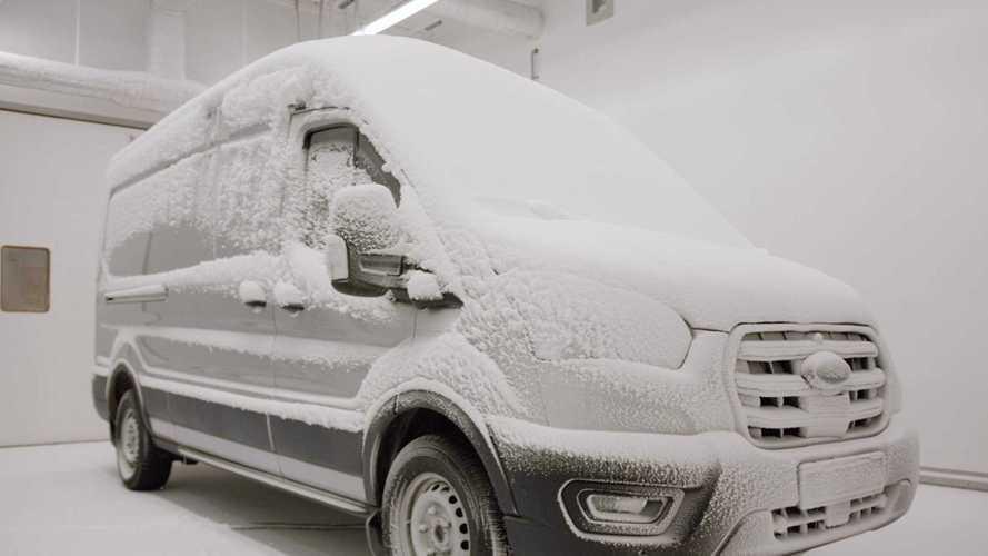 Ford E-Transit, prove di resistenza