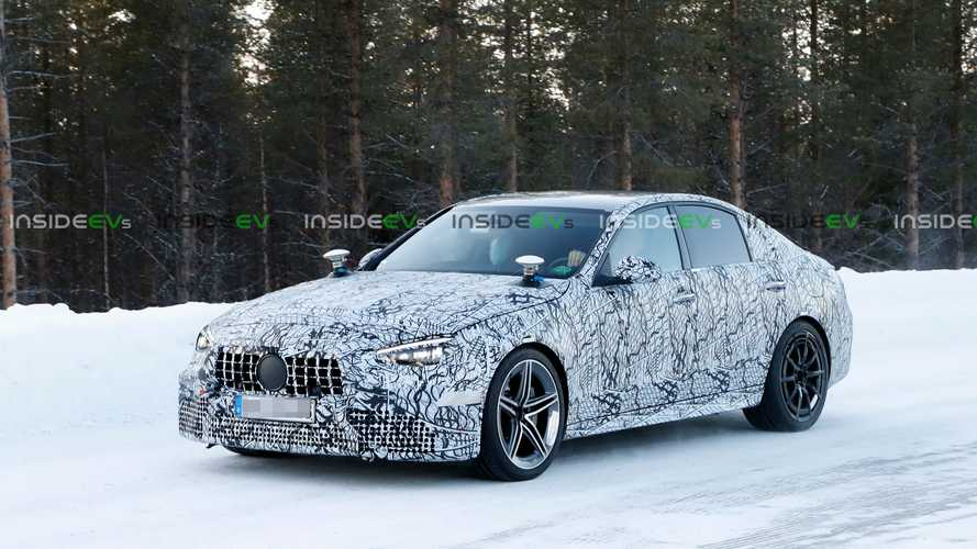 Mercedes-AMG C63 Spied Hiding 500 HP Four-Cylinder PHEV Powertain