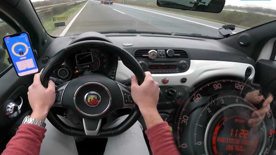 Take A Bumpy Ride On This Abarth 500 During Autobahn Top Speed Run