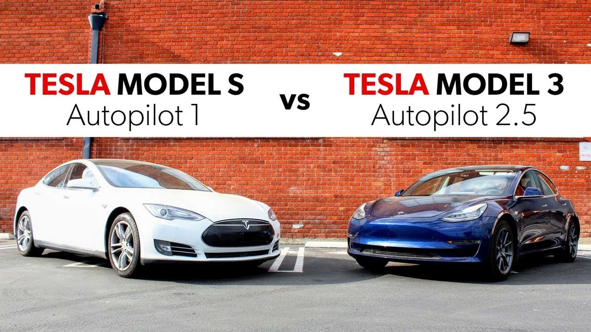 Tesla Autopilot Progress 2015 Model S Vs 2018 Model 3 On Canyon Road