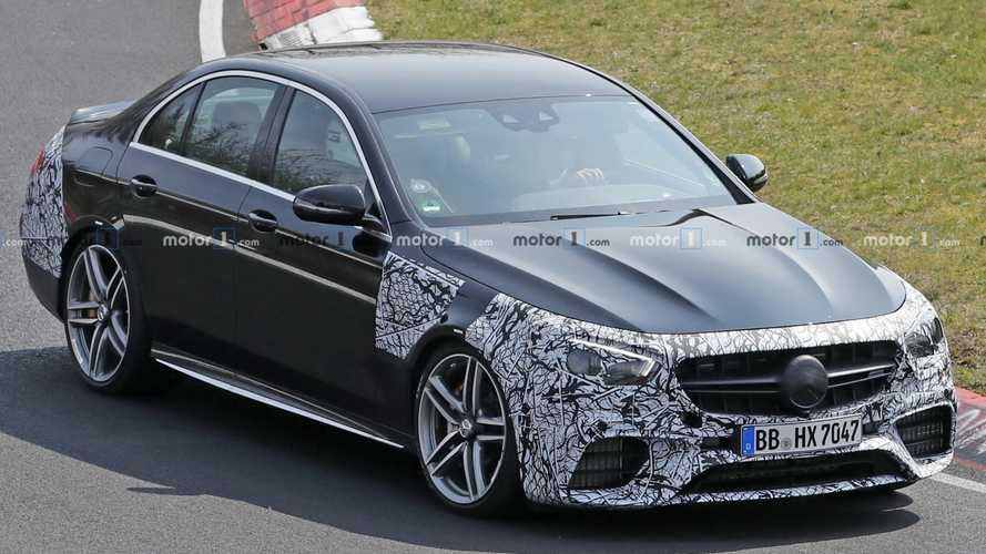 2021 Mercedes-AMG E63 spied missing the Panamericana grille