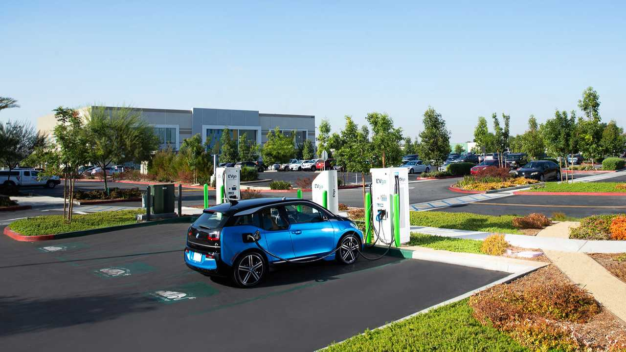 BMW i3 at EVgo fast charging station