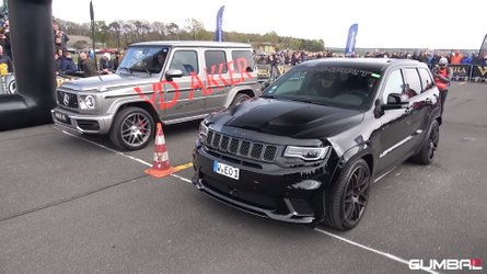 Mercedes-AMG G63 Battles Jeep Trackhawk In SUV Drag Race Showdown