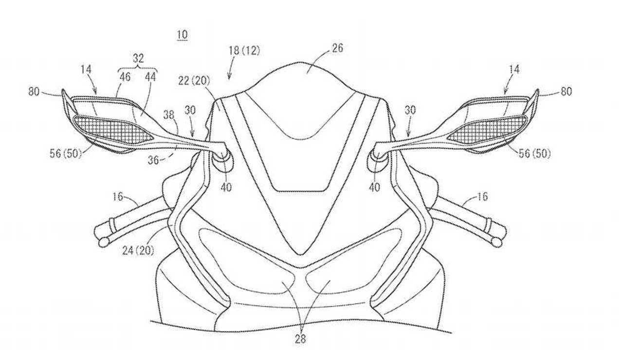 Honda Winglet Mirror Patent