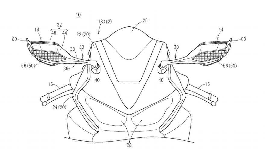 Honda Files Patent Mirror Winglets On Future CBR1000RR