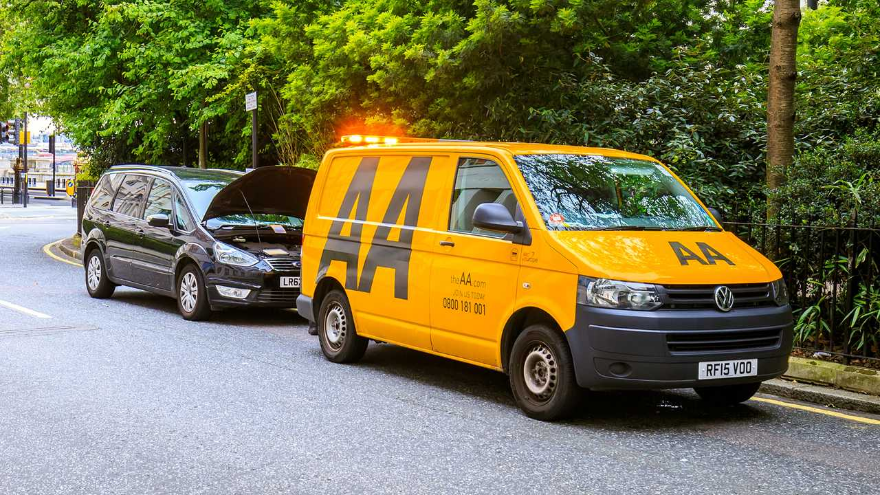 AA assistance van in London