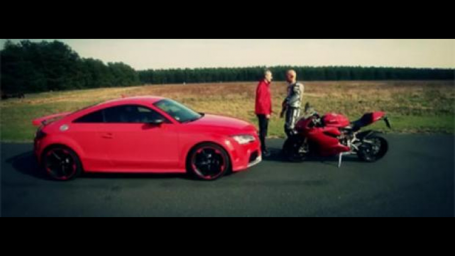 Video: Ducati 1199 Panigale S vs. Audi TT RS