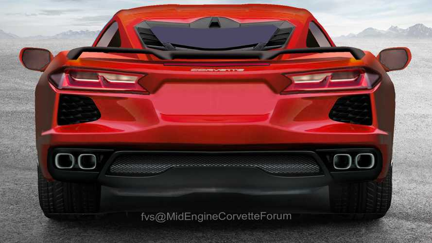 Detailed C8 Corvette Renderings Imagine The Supercar's Backside