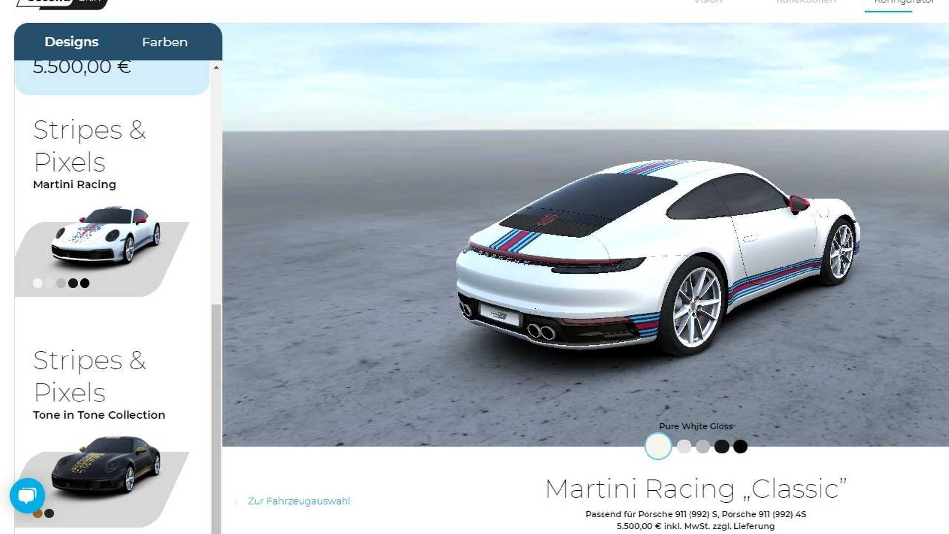 """Porsche lance """"Second Skin"""", une plateforme pour décorer votre voiture"""
