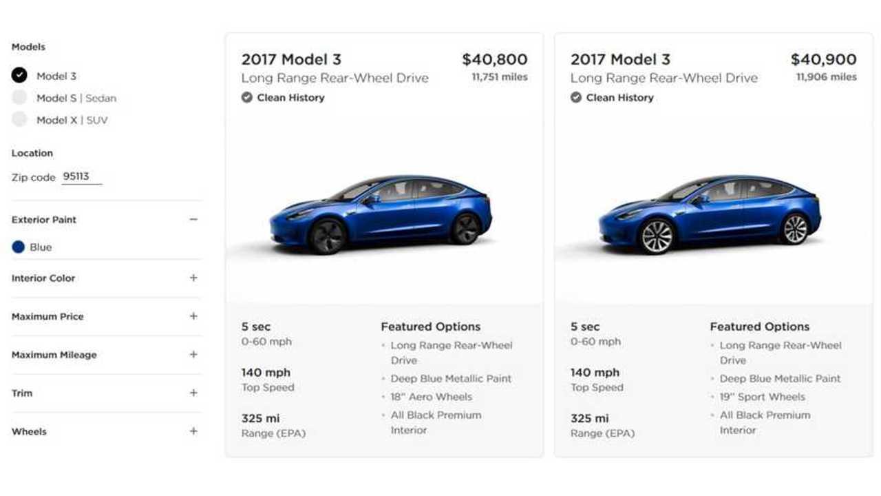 Tesla Now Sells Used Model 3 In U.S.