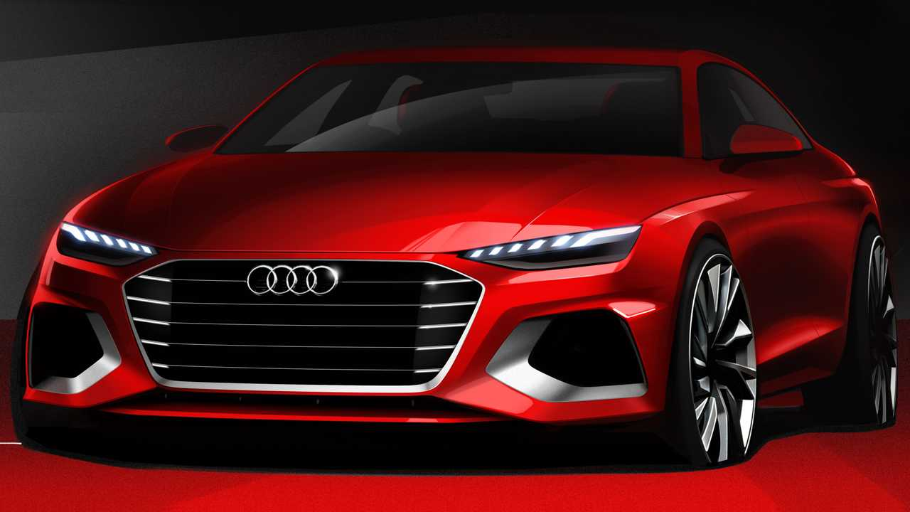 2020 Audi A4 facelift sketch