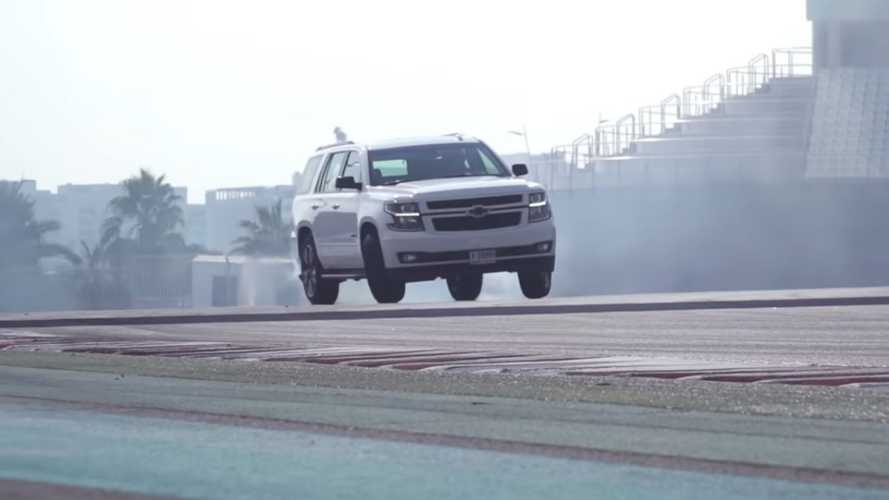 Chevy Tahoe RST Drift Video Is An SUV Smoke Show
