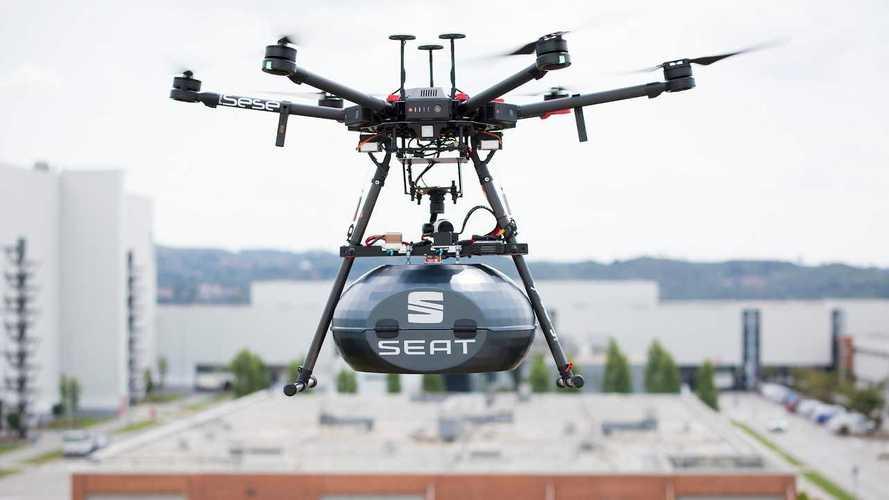 Seat, consegna di ricambi via drone