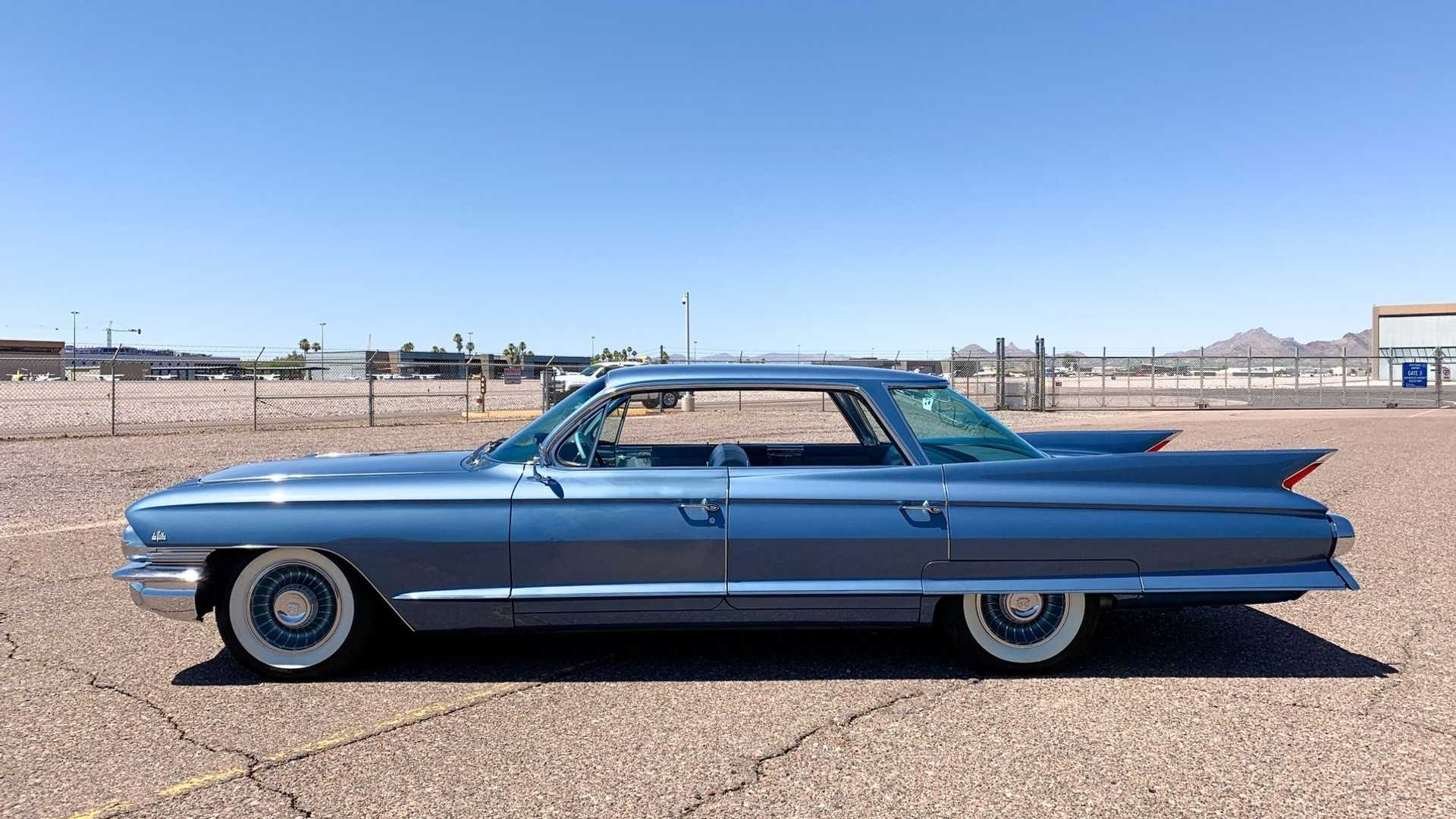 """[""""Extremely Clean 1961 Cadillac DeVille In Dresden Blue Metallic""""]"""