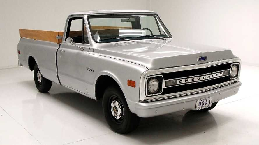 Fully Restored 1969 Chevrolet C10 Fleetside Truck In 'Ford Silver'