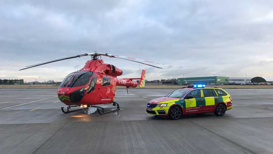 London Air Ambulance's life-saving ground fleet refreshed by Skoda