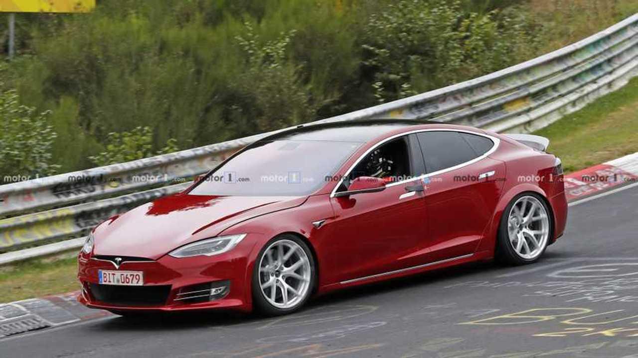 Photo espion Tesla Model S Nurburgring