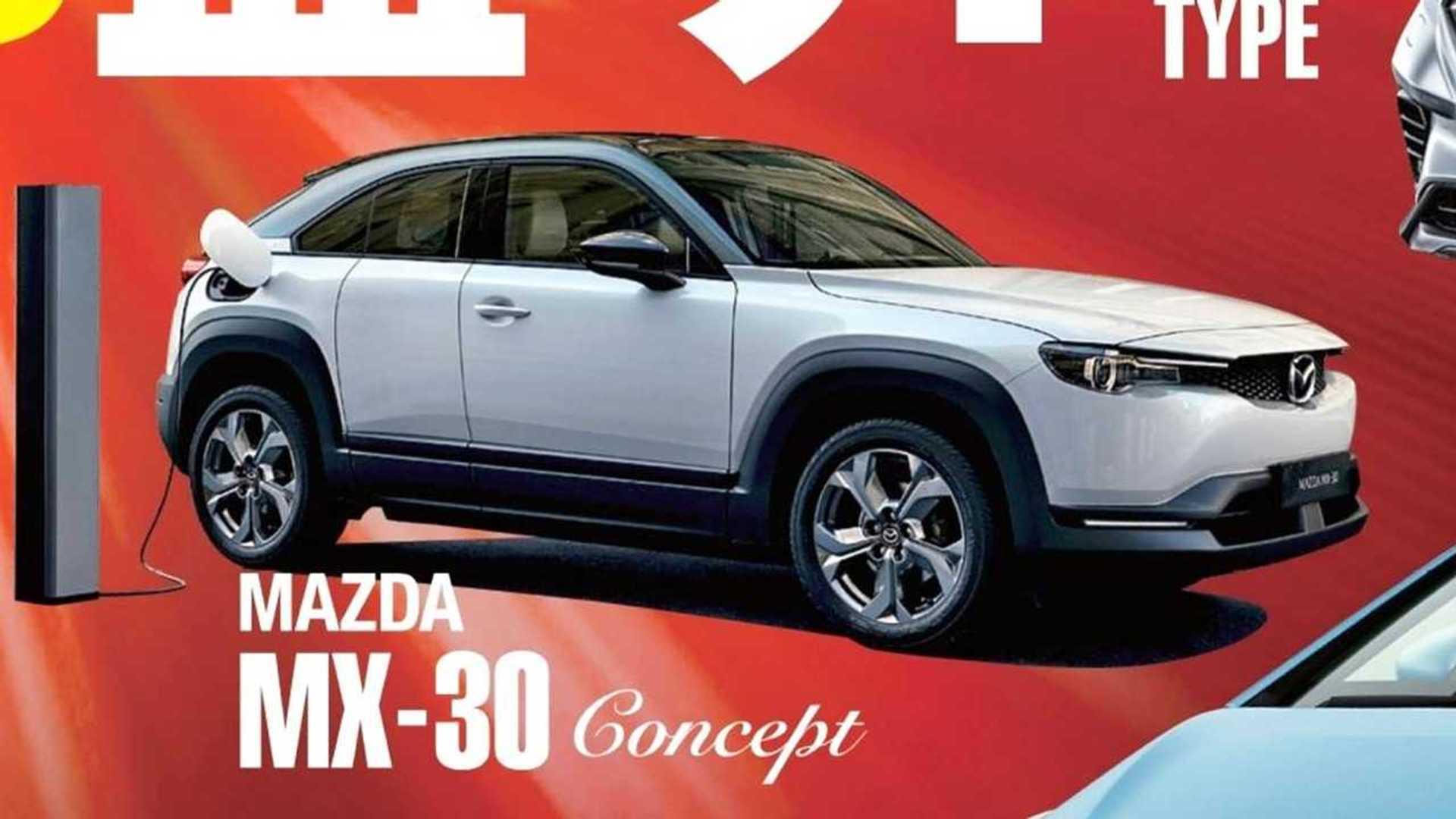 Mazda MX-30 Concept: Erstes Bild vom neuen Elektroauto geleakt