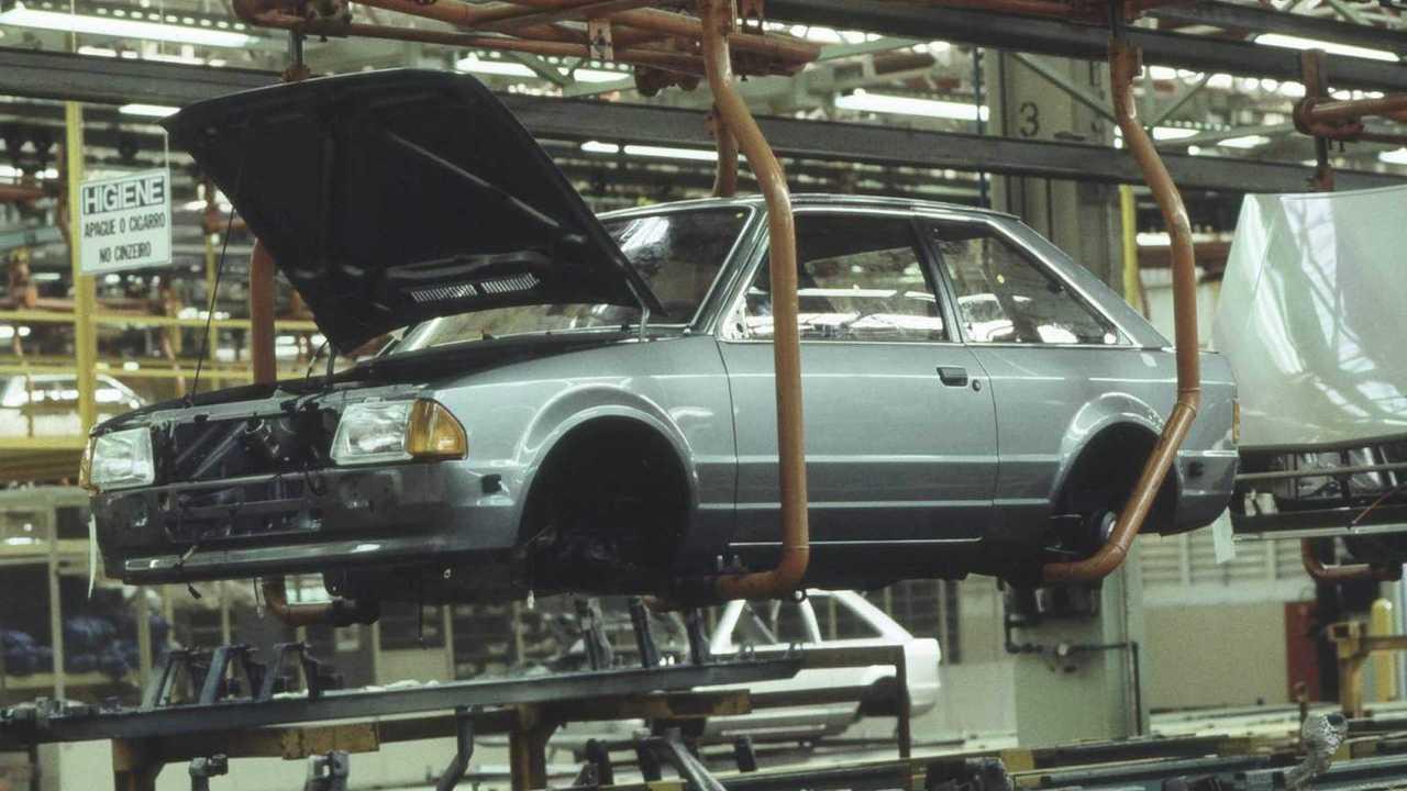 Ford Escort na linha de montagem - SBC