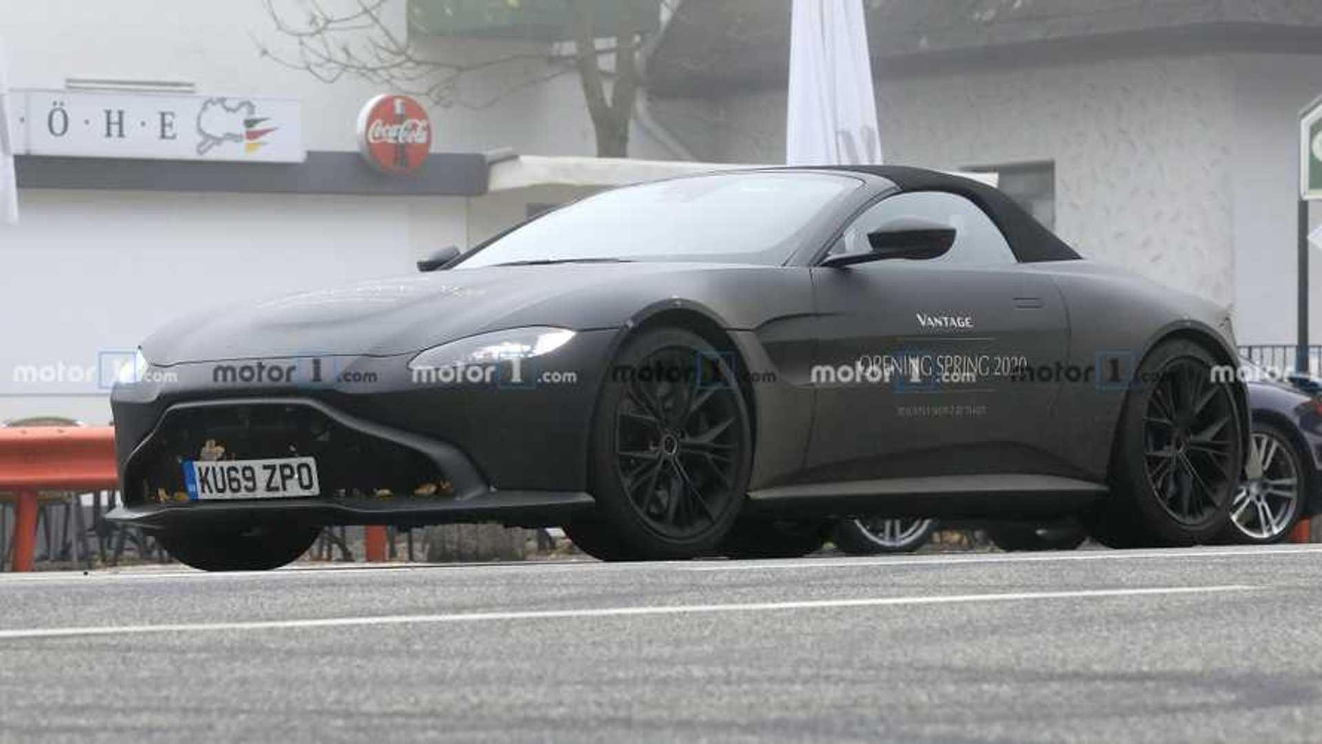 Aston Martin Vantage Volante Spied Looking Dark On A Foggy Day